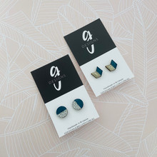 GLITTER EARRINGS - NAVY