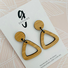 Bamboo - Statement Earrings  - Retro Triangles - 2167