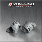 Vanquish Products Aluminum Scale C-Hubs for Axial Wraith  Clamping C-Hub for extra holding power and zero slop Using Vanquish scale chubs and knuckles adds a bumpstop at 48 degrees to protect CVDs or VVDs from damage Works with standard Axial stock and Vanquish Wraith knuckles