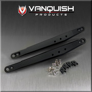 Vanquish Products Aluminum Trailing Arms for Axial Yeti  Replaces stock plastic trailing arms with strong aluminum trailing arms Stiffens rear end for better handling under extreme loads Proprietary rebuildable rod end joint Multiple shock mount locations    Includes the following:  2pcs Left and Right Trailing Arms 2pcs Front Clamps 2pcs Rear Clamps 4pcs Traxxas Rod Ends 4pcs M3 x 0.5 x 6mm Socket Set Screw 4pcs M3 x 0.5 BHCS 5mm 1pc Instructions Sheet
