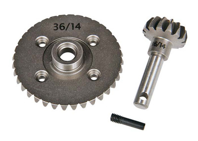 AXIAL HEAVY DUTY BEVEL GEAR SET 43 / 13 #AX30402  MAKES OVERDRIVE ON THE AXLE.
