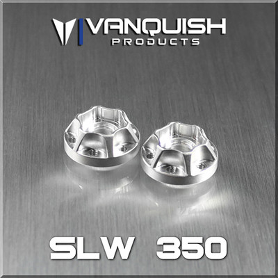 Vanquish Products Aluminum SLW Wheel Hubs  Compatable with SLW, OMF, KMC, Method, and SSZ style wheels Sold in pairs Increments of 1/8 of an inch Uses six 4-40 screws to attach hub to wheels Hardware not included