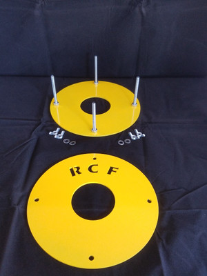 THIS IS MADE BY RCFABWORKS AND WILL HELP IN THE MOUNTING OF 1.9 AND 2.2 TIRES. sOME OF THE FOAMS OUT THERE ARE PRETTY STIFF AND HARD TO MOUNT TO THE RIMS, THIS WILL MAKE IT A TON EASIER. THE KIT WILL COME IN BARE METAL TO KEEP THE COST DOWN  WHATS INCLUDED IS 2 PLATES. 4....1/4'' SCREWS 4....FLAT WASHERS 4....1/4'' WINGNUTS.