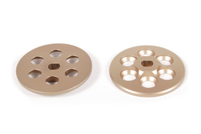 Axial's machined slipper plates are CNC machined for a precise fit. They are also lighter than the stock cast aluminum plates for better performance!  • CNC machined for precision • Hard anodized for durability • Direct bolt on application • Includes front and rear plates