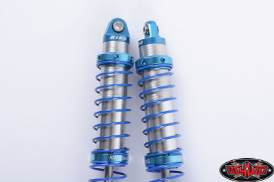 "RC4WD KING OFF-ROAD DUAL SPRING SHOCKS (100MM MEDIUM OD) Specifications:  Machined Billet Aluminum King on Top and Retainer Ring Dual Spring Design Steel Rod End Ball Ball Width: 0.25in / 6.3mm Ball Lip Diameter: 0.19in / 4.8mm Ball ID: 0.12im / 3mm Hole to Hole (Compressed): 2.75in / 70mm Hole to Hole (Uncompressed): 3.93in /100mm Overall Length: 4.3in / 109.3mm Travel Length: 1.18in / 30mm Shock Body OD: 0.49in / 12.6mm Shaft OD: 0.15in / 3.97mm Spring Body OD: 0.66in / 16.98mm Spring Body ID: 0.58in / 14.8mm Each Weight: 0.91oz / 26g What's Included:  1x RC4WD King Off-Road Dual Spring Shocks (100mm Medium OD) 1x King Decal Sheet  Optional Parts:  RC4WD King Off-Road Dual Spring Shocks (80mm Medium OD) (Z-D0055) RC4WD King Off-Road Dual Spring Shocks (90mm Medium OD) (Z-D0061) RC4WD King Off-Road Dual Spring Shocks (110mm Medium OD) (Z-D0065) RC4WD King Off-Road Dual Spring Shocks (120mm Medium OD) (Z-D0067)  Replacement Parts:  Rebuild Kit for King Off-Road Dual Spring Shocks (Z-S1263) Replacement Shock Shafts for King Dual Spring Shocks (100mm) (Z-S1279) RC4WD Shock Cap for Top of King Offroad Shocks (Z-S1280) RC4WD Lower, Center and Threaded Spring Retainer for King Offroad Shocks (Z-S1282) RC4WD 100mm King Off-Road Dual Spring Shocks Spring Assortment (Z-S1289)  Notes:  Fits Boyer 1/10 Scale Truggy RTR (Z-RTR0006) (Front) Fits Boyer 1/10 Scale Truggy Kit (Front) Fits Z-K0001 (Front / Rear), (Z-RTR0019 ""Disc"") (Rear), (Z-RTR0024) ,(Z-K0042 ""Disc"") (Z-K0049) (Rear),But you need to Z-S0741 and Z-S0058 to cooperate Fits Traxxas TRX-4, but will require both 2mm (Z-S0600) and 3mm (Z-S0806) Black Spacers with M3 Holes Use blue (medium) thread lock to the bottom shock shaft rod end before installing onto your vehicle to help keep it in place.  King Off-Road is a registered trademark of the King Off-Road Shock company. The King Off-Road logo is property of King Off-Road Shocks."