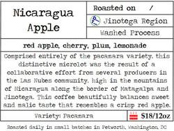 Nicaragua Pacamara Apple