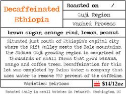 Decaffeinated Ethiopia Guji