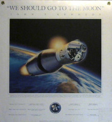 2001 Go To The Moon w/Printed Names Poster