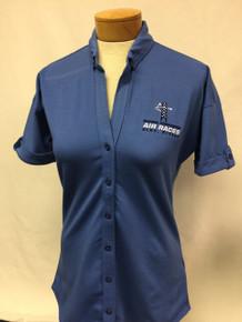 Women's Stretch Pique Button Front Shirt