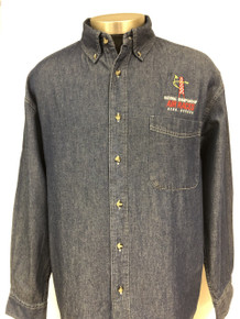 Men's Long Sleeve Denim Shirt
