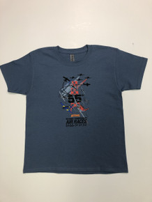 2018 Official Tee Youth Indigo Blue MISPRINT