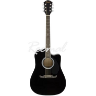 Fender Semi Acoustic Guitar Dreadnought Walnut Fingerboard FA125CE BLK