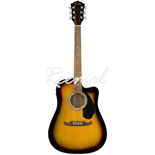 Fender Semi Acoustic Guitar Dreadnought Walnut Fingerboard FA125CE SB
