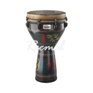 "Remo Djembe Key Tuned 14"" Diameter 25"" Height Adinkra Finish"