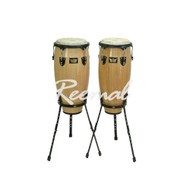 "Remo CONGA DRUM 10"" + 11"" W/Stand NAT"