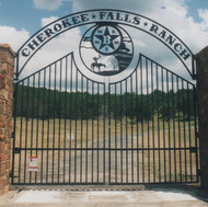 Tall Double Gates with Overhead
