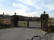 Subdivision Entrance Double Gate