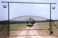 Single Arch Gate with Simple Post Overhead