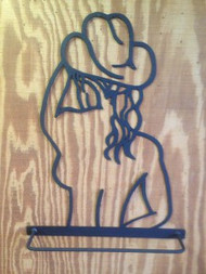 Cowboy or Cowgirl Towel Bar (Set)