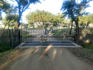 Rustic yet Stately Double Arch Gate