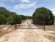 Custom Gate Double Arch  Center art with Address