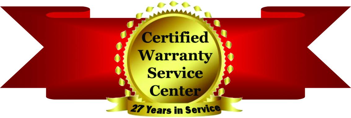 Certified Warranty Service Center