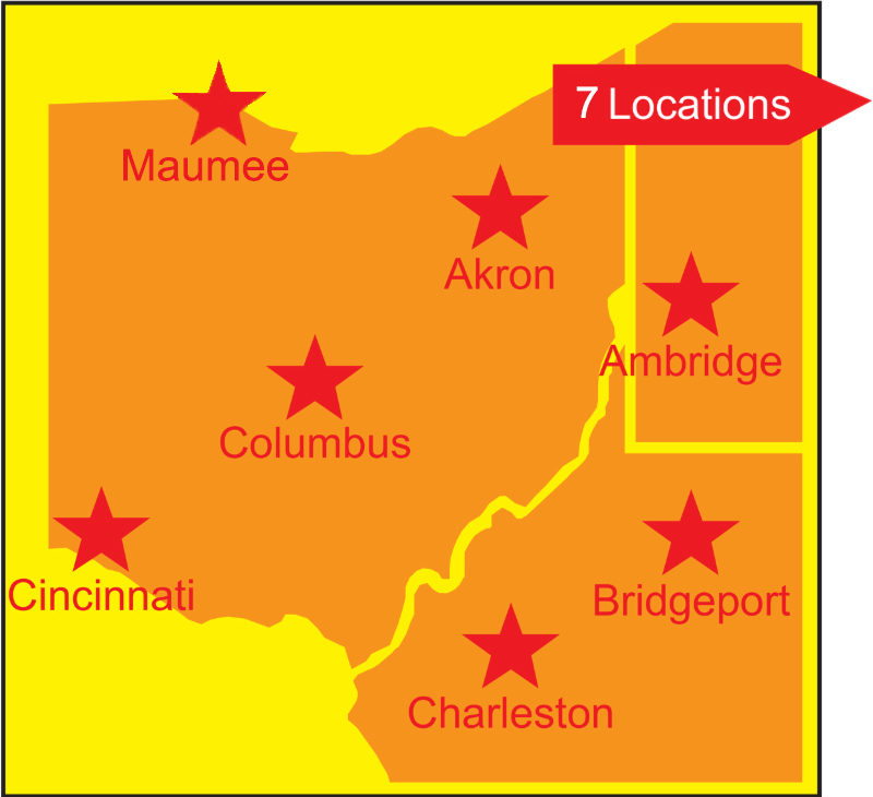 Conveniently-Located Offices in PA, OH and WV