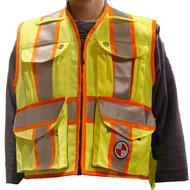 Heavy Duty Party Chief Survey Vest (PC15X) | Front | Precision Laser & Instrument
