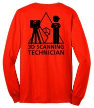 """Long Sleeve Shirt: """"3D Scanning Technician"""""""