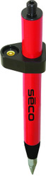 Seco 1ft. Mini Stakeout Prism Pole - Red
