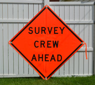 Vinyl Survey Crew Ahead Sign