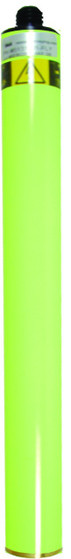 Seco 1ft. Prism Pole Extension/1.25in. OD - Flo. Yellow