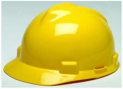 Yellow | MSA V-Gard Hard Hats | Precision Laser & Instrument | 24206