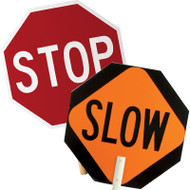 Stop/Slow Work Area paddle