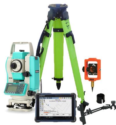 "Nikon NPL-322+ 5"" Robotic Total Station Package (HQA46580) | Precision Laser & Instrument"