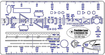 Pipeline, Oil and Gas Drafting Template Stencil (A10843-B)