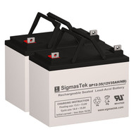 Invacare PTE (14 Inch or less) - 12V 35AH Wheelchair Battery Set