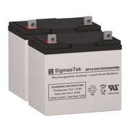 Invacare R50LX (16 Inch or wider) - 12V 55AH Wheelchair Battery Set