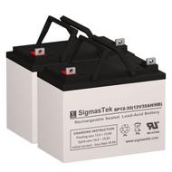 Invacare Lynx LX-3 - 12V 35AH Wheelchair Battery Set