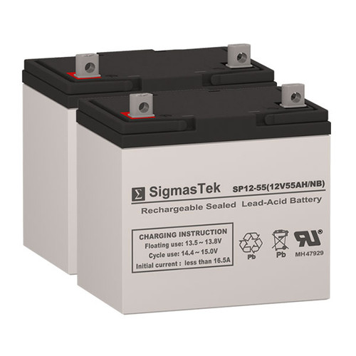 Quickie P100 22NF AGM - 12V 55AH Wheelchair Battery Set