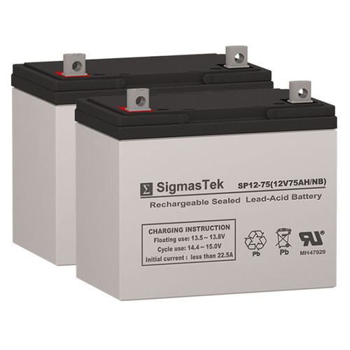 Quickie G424 GP24 AGM Battery Set