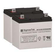 Quickie V521 - 12V 55AH Wheelchair Battery Set