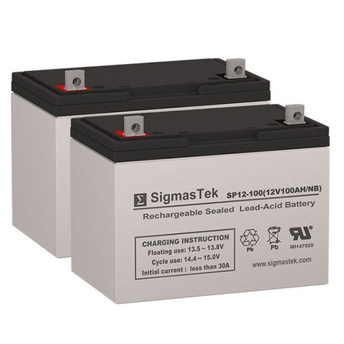 Shery Products Electra GP27 - 12V 100AH Wheelchair Battery Set