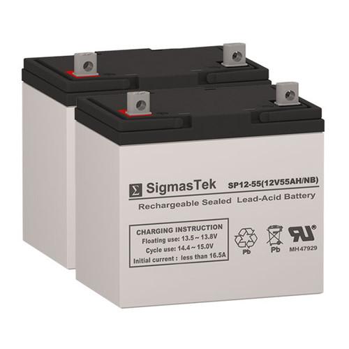 CTM HS-730 - 12V 55AH Wheelchair Battery Set