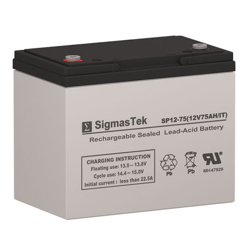 Electric Mobility AGM1265T - 12V 75AH Wheelchair Battery