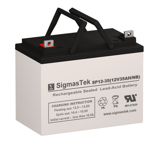 Invacare AGM1280T - 12V 35AH Wheelchair Battery