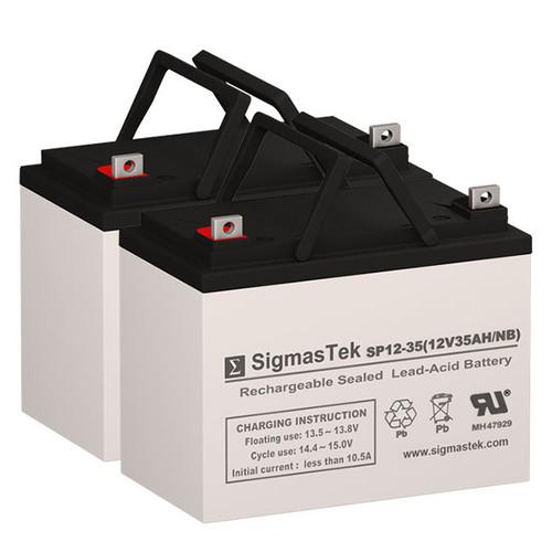 Merits Travel-Ease Regal P328-2S C - 12V 35AH Wheelchair Battery Set