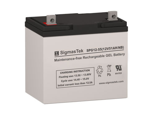 Power Sonic DCG12-50 12V 51AH GEL Battery Replacement