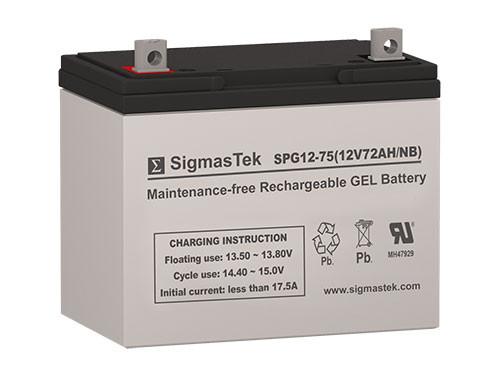 Power Sonic DCG12-70 12V 72AH GEL Battery Replacement