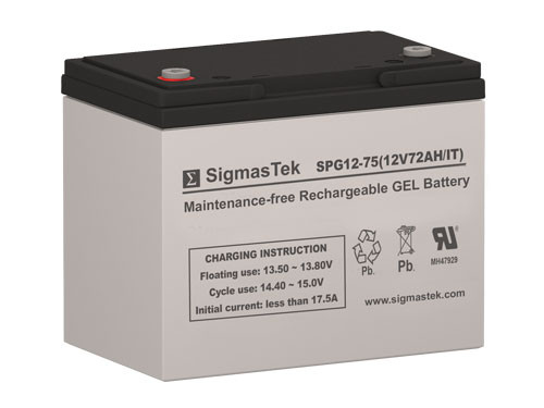Power Sonic DCG12-70 IT 12V 72AH GEL Battery Replacement